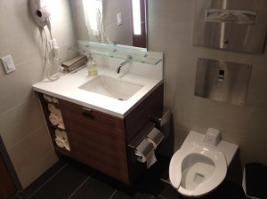 One of the shower suites.