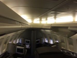 An overview of the GlobalFirst cabin.