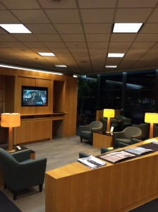The first class lounge at LAX.