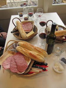 Cheese, charcuterie, bread and wine at Hahndorf's Udder Delights