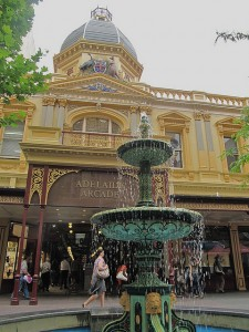 The fountain at Adelaide's Rundle Mall