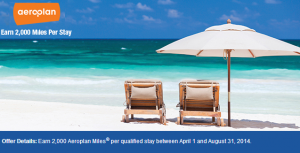 Earn 2,000 Aeroplan miles per stay at Best Western.