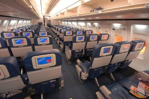 Main cabin of Delta's 757