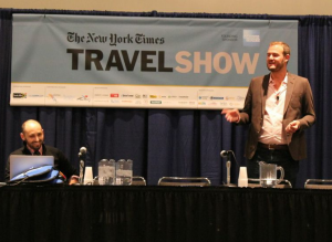 Speaking at the New York Times Travel Show on Sunday.