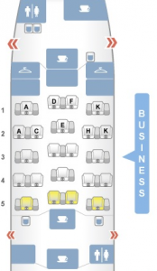 Brussels Airlines A330-200 Business Class Seat Configuration