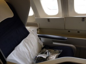 Club World window seats have extra storage