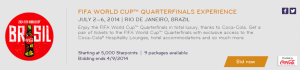 Bid on an SPG moments package to see the World Cup in Rio.