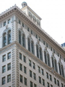 One of the many fine, historic office buildings in the Financial District