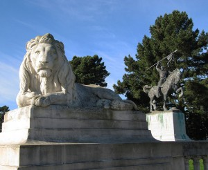 Monuments gracing the Legion of Honor's grounds at Lincoln Park
