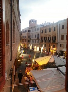 A view from my apartment in the Piazza Civica.
