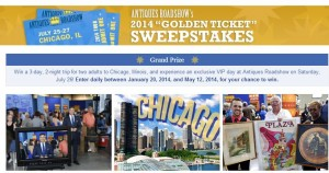 Win a trip to Chicago to see Antiques Roadshow.