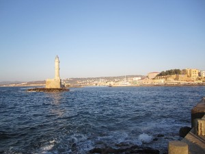 The Venetian Lighthouse in Chania, Crete.