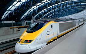 The famous Eurostar from Paris to London.
