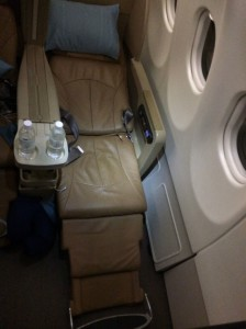 The seat was comfortable but not amazing