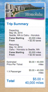 May 5-12 roundtrip SEA-HNL