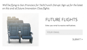 Potential mentees can submit their email address for future flight updates