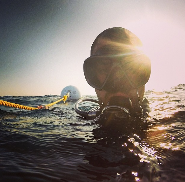 Coming up for air on one of my latest dives in Miami