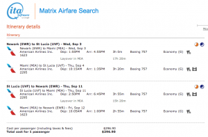 Via ITA Matrix - IAH-UVF from September 3-11, 2014 on American for $296