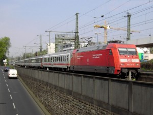The EC train from Wien to Praha.