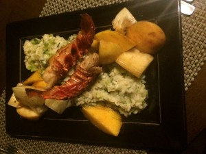 My dish of langoustines, or small lobsters