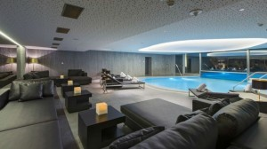 The indoor lounge area of the WET pool.