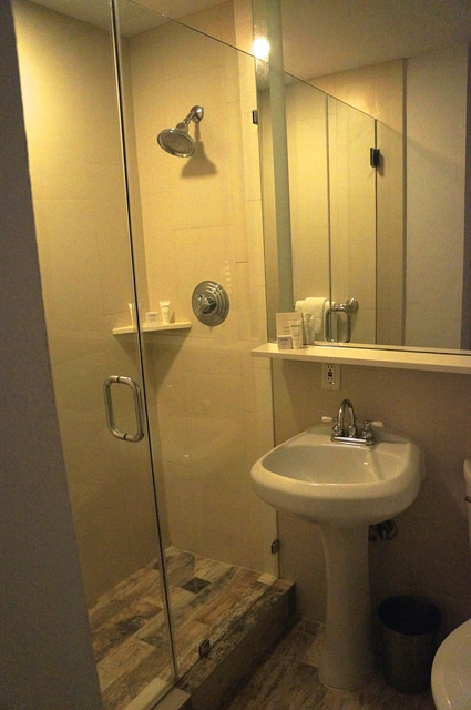 My main bathroom had plenty of space for me, and a shower with great water pressure