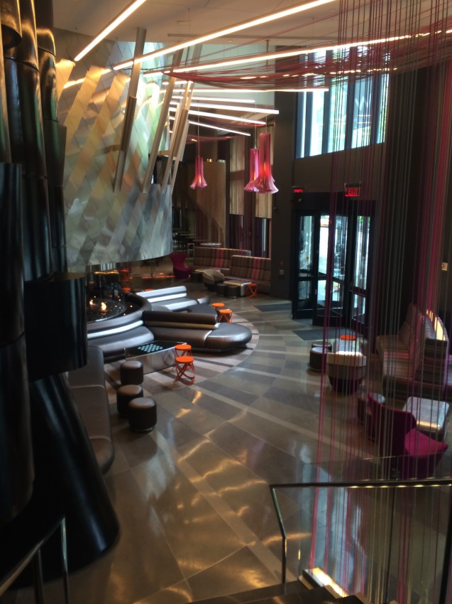 Artsy lobby at the W Seattle
