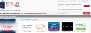 Skymiles Shopping Mother's Day Offers.