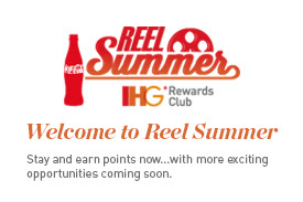 IHG's Reel Summer promo offers extra bonus point opportunities for Summer 2014 stays.