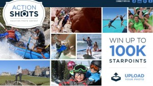 Win up to 100,000 Starpoints for submitting an action vacation shot