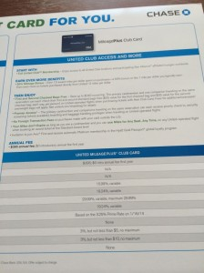 $395 annual fee waived the first year on the United Club card