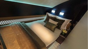 The bedroom in Etihad's new Residence Suite, aboard its new A380s