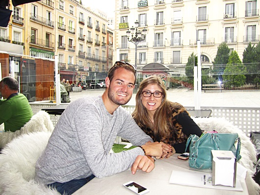 """Brian """"TPG"""" and Lori hanging out in Madrid"""