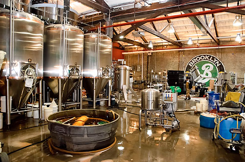 The brewing room at Brooklyn Brewery...a tasting tour is highly encouraged and highly delicious!