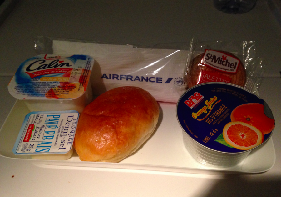 Final meal before landing...with more cheese of course.