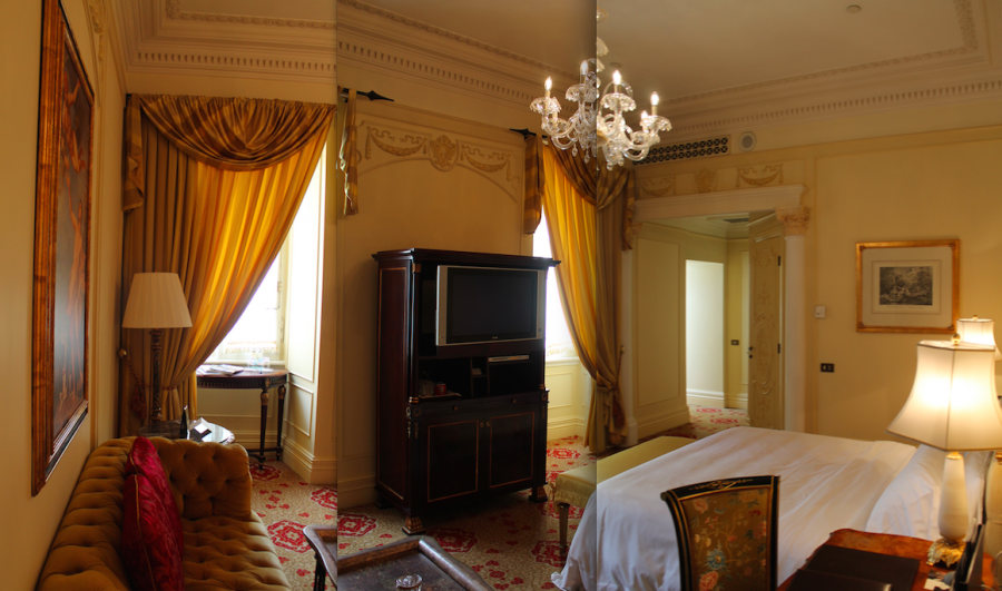 A Superior King Room at the St. Regis Grand Rome