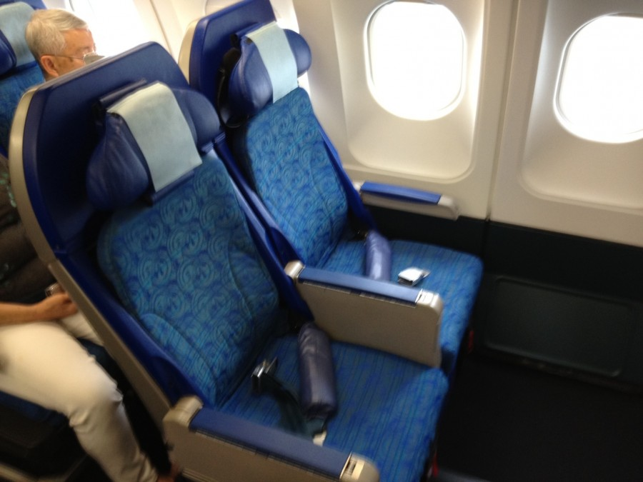 I was happy with my bulkhead seat for the short flight.