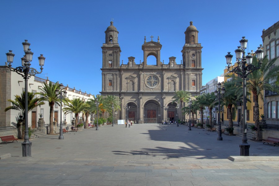 The St. Ana Cathedral in La Palma, Gran Canaria. Image courtesy of Shutterstock