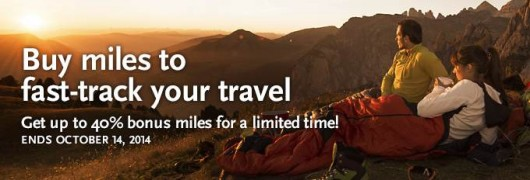 Get up to a 40% bonus on purchasing Alaska Air miles