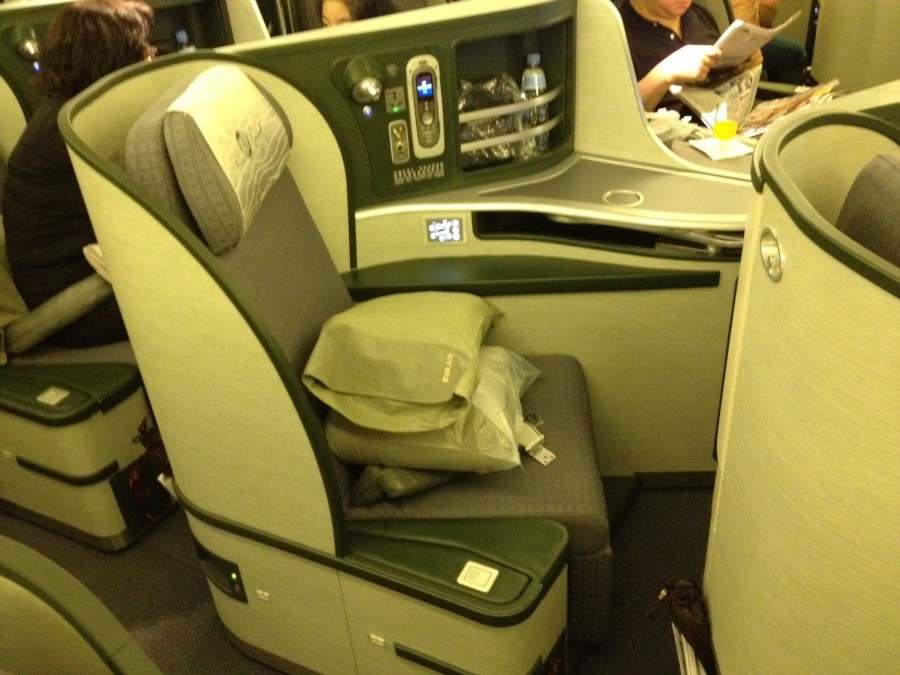 One of my priorities was to try EVA's Royal Laurel business class. Photo by Eric Rosen.