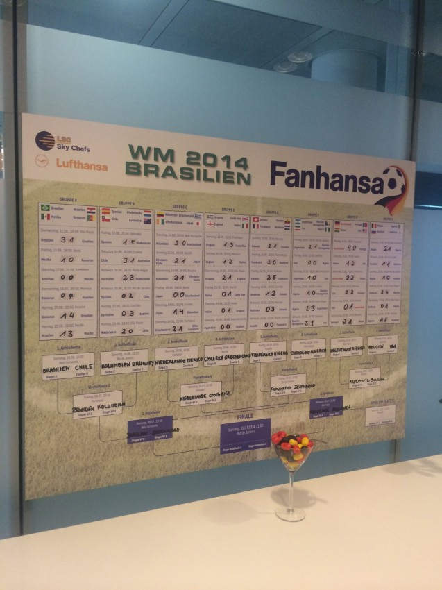 Fanhansa is Lufthansa's own branding effort for the World Cup - and it was in full effect for the big Germany vs. Brazil match
