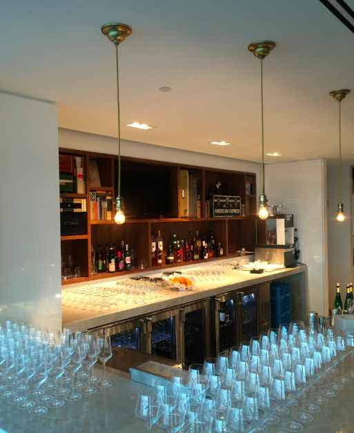 Bar area at the Centurion Lounge LaGuardia