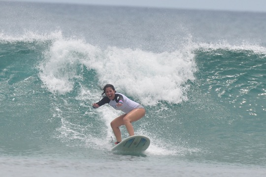 The best surfing pic of me to date. NOT taken in Long Beach, but at surf camp in Costa Rica.