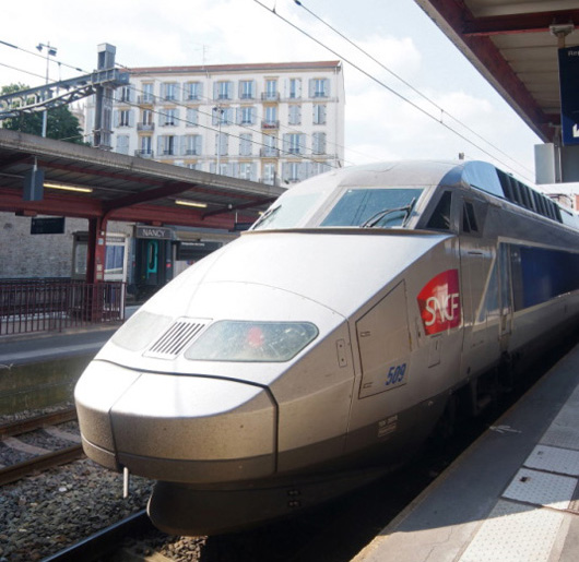 A TGV in Nancy, France. Image courtesy of Atout France/Michel Laurent