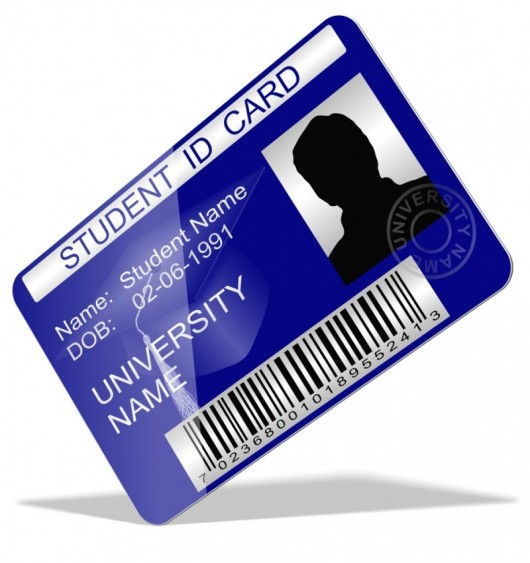 Your student ID gets you into the dining hall line - but possibly airport security, as well (Image courtesy of Shutterstock)