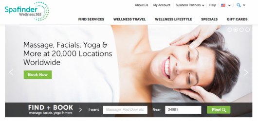 SpaFinder can locate spas close to your home, and they also have their own loyalty program.