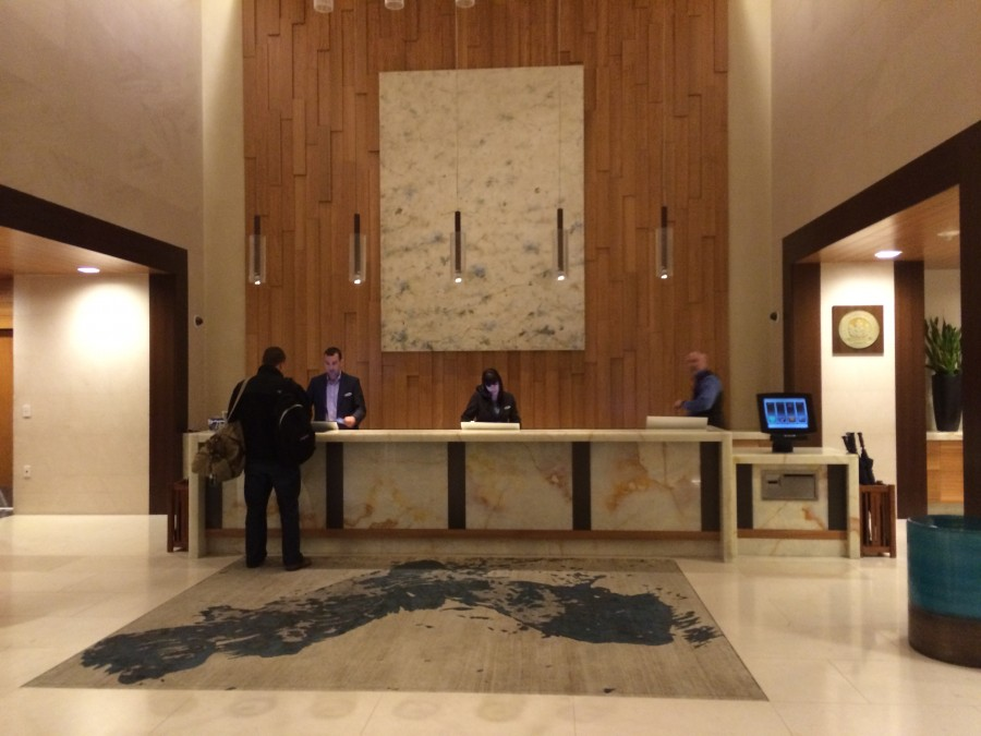 Guest reception area at the Hyatt Olive 8.