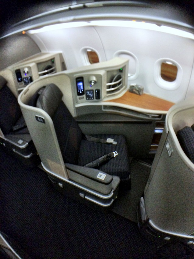 The AA321 First class seats
