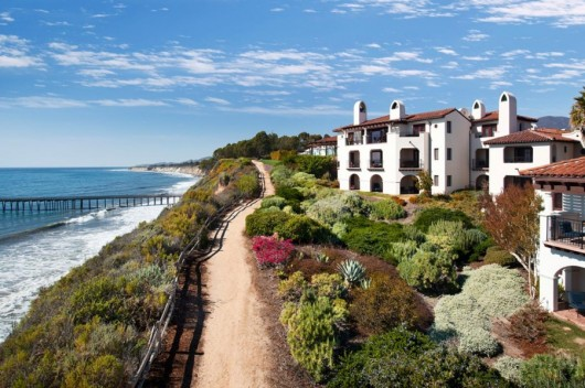 The Santa Barbara area's Bacara Resort & Spa is set on a bluff beside the Pacific.