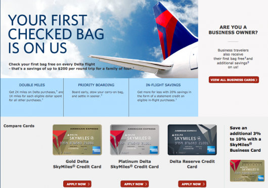 Delta's Amex cards offer one of the most generous checked bag benefits out there.